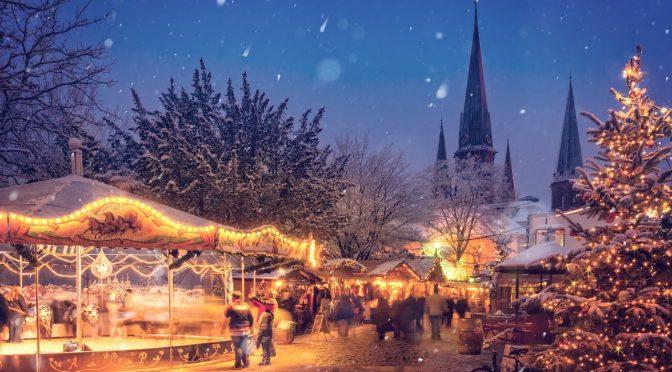 beleuchtet abend winter urlaub dekoration stadt