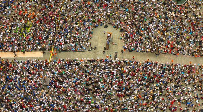 Streik Protest Menschen Gruppe Ansammlung viele