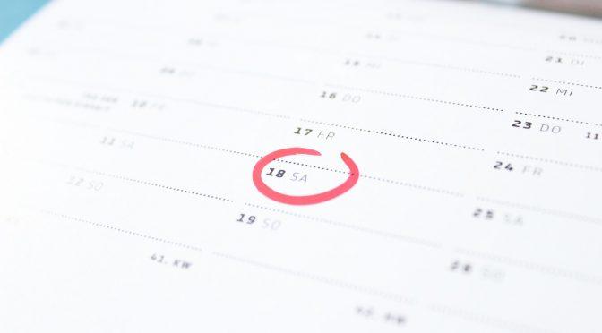 Termine August bis Oktober 2019